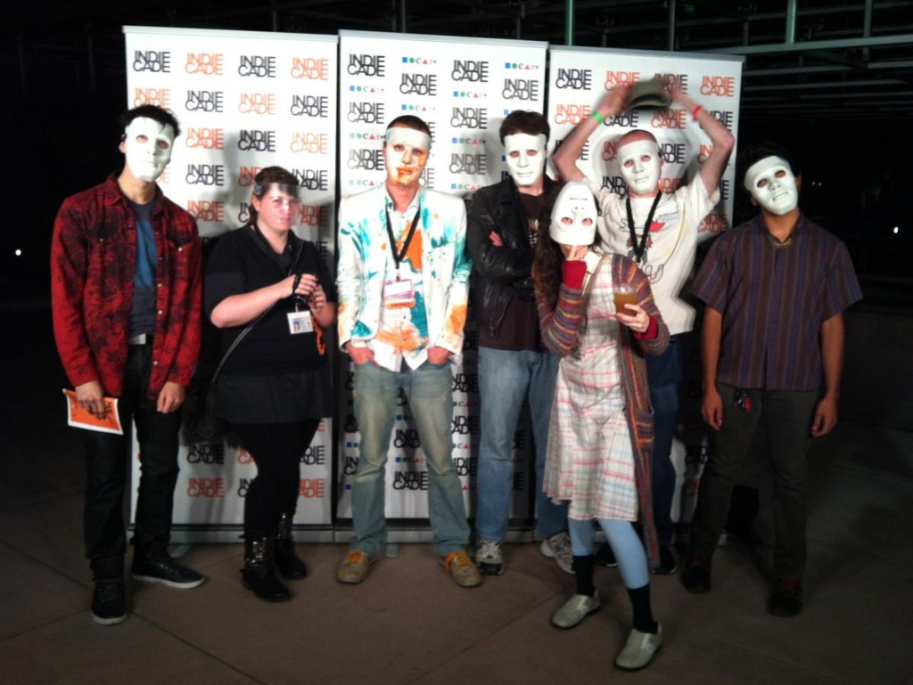 Me and my six Guardian of Play at the IndieCade 2013 red carpet award, Thursday the 3rd of October 2013.